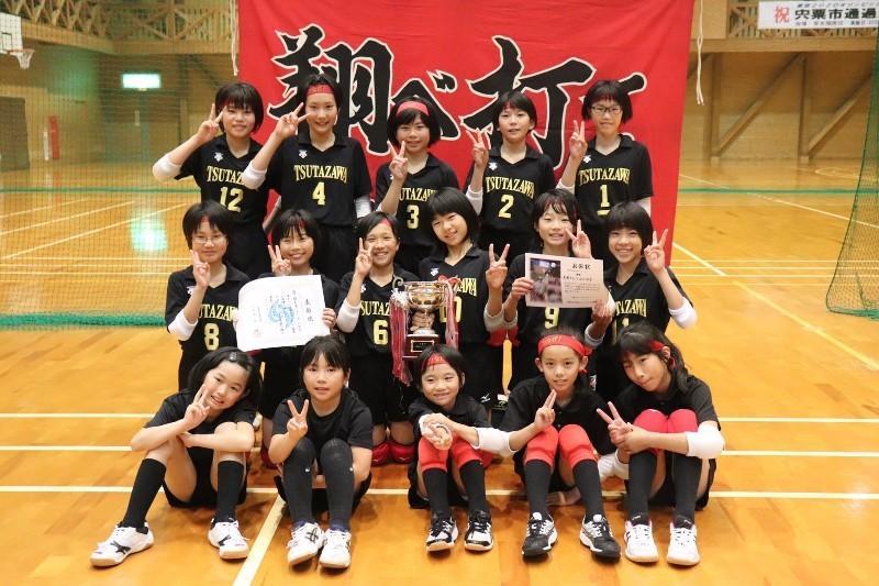 優勝した蔦澤少女バレーボール教室